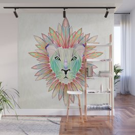 lion colorful Wall Mural