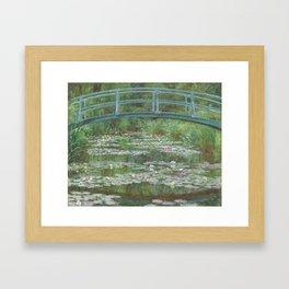 Monet's The Japanese Footbridge (High Resolution) Framed Art Print