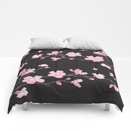 Cherry Blossom - Black Comforters