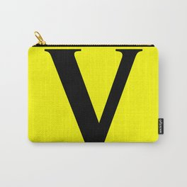 V MONOGRAM (BLACK & YELLOW) Carry-All Pouch
