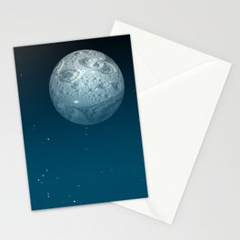 Fractal Moon Stationery Cards