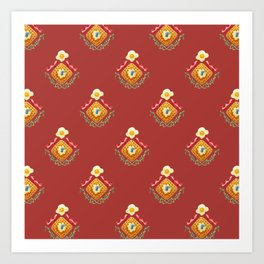 Waffles and Bacon (Red Rover Red Rover) Art Print