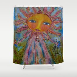 Miss Sunshine - Whimsies of Light Children Series Shower Curtain