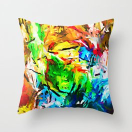 Weeping Woman with the Red Lipstick JVO2020P Throw Pillow