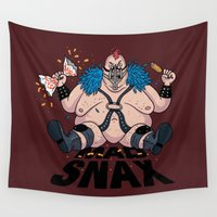 mad Wall Tapestries featuring Mad Snax by Chris Piascik