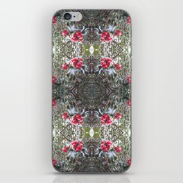 Very Berry Holly Christmas Multi Fractal from Photo 805 iPhone Skin