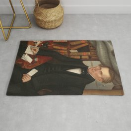 Vermont Lawyer Oil Painting by Horace Bundy Rug