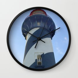 saint augustine lighthouse photography Wall Clock
