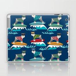 schnauzer surfing dog breed pattern Laptop & iPad Skin