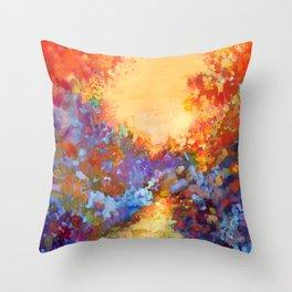 Late Afternoon Autumn Sun Throw Pillow