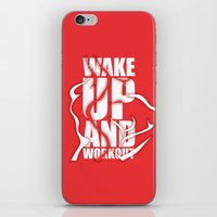 workout iPhone & iPod Skins featuring Lab No.4 - Wake Up And Workout Inspirational Quotes poster by Lab No. 4