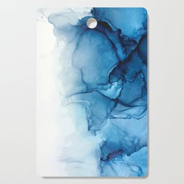 Blue Tides - Alcohol Ink Painting Cutting Board