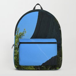 Devils Tower Rising Into The Sky Backpack