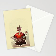 SWEET WORMS 2 - caramel apple Stationery Cards
