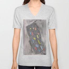 180311 Watercolour Micron 2 |shapes art abstract |shapes art design Unisex V-Neck