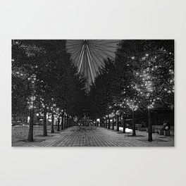 Avenue of trees by the London Eye Canvas Print