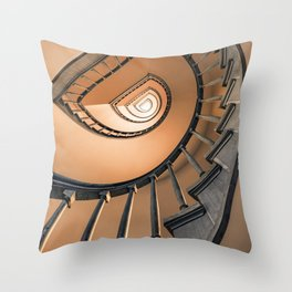 Bright orange staircase Throw Pillow