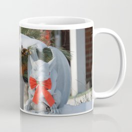 Dashing Gargoyle in Winter Snow - Dressed for the Holiday Season Coffee Mug