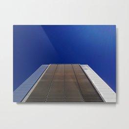 modern minimalist building against blue sky Metal Print