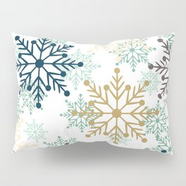 Christmas pattern with snowflakes. Pillow Sham
