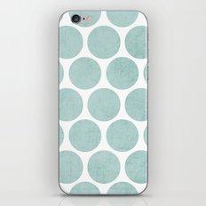robins egg blue polka dots iPhone & iPod Skin