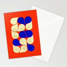 Mid-century geometric shapes-no10 Stationery Cards