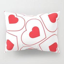 Heart Pattern Pillow Sham
