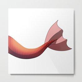 Scarlet Mermaid Tail V2 #Red #Scales #FantasyArt Metal Print