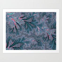 Teal Fractal Art Print