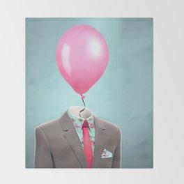 Balloon Head Throw Blanket
