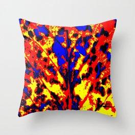 Fire Tree Pop Art Throw Pillow