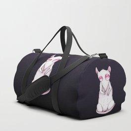 Albino rat pencil drawing Duffle Bag