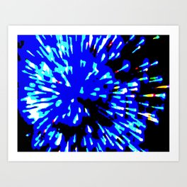 Blue Flash Art Print
