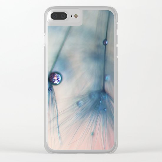 dandelion blue III Clear iPhone Case