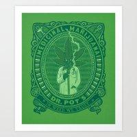 marijuana Art Prints featuring Medicinal Marijuana by victor calahan