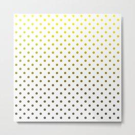 Gray and yellow dots Metal Print
