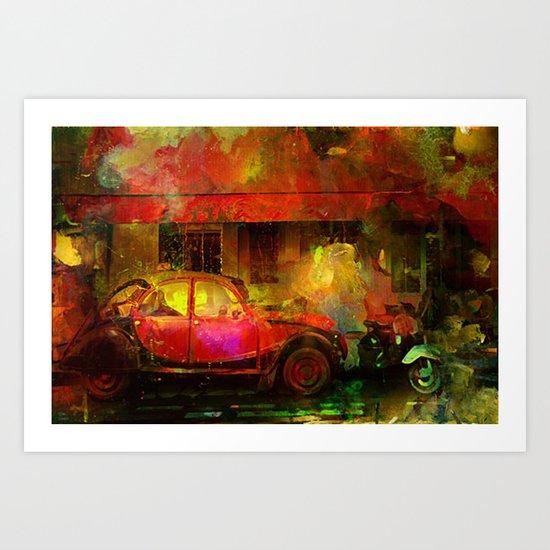 The street bistrot Art Print