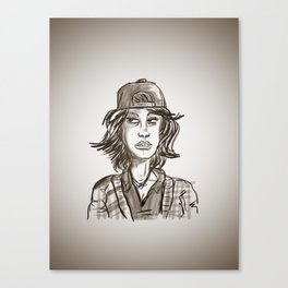 Hypebeast with Braces as a Girl Canvas Print