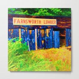 Farnsworth Lumber Yard Metal Print