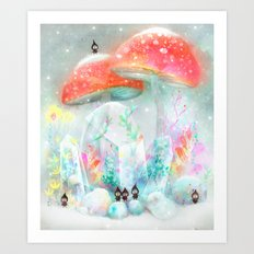 Winter Garden Art Print