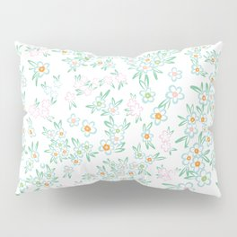 Forget me nots on white - in memory... Pillow Sham