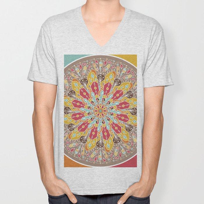 Mandala Boho Style Unisex V-Neck