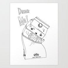 Angry Little Soymilk Art Print