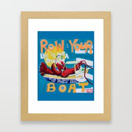 Row Your Boat Lobster Yacht Framed Art Print