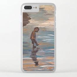 Kid in the Water Clear iPhone Case