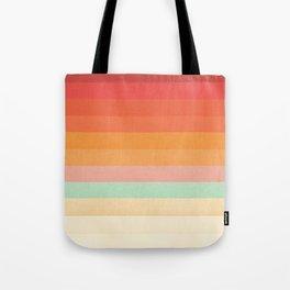 Rainbow Chevrons II Tote Bag