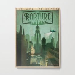Rapture Art-Deco Travel Metal Print