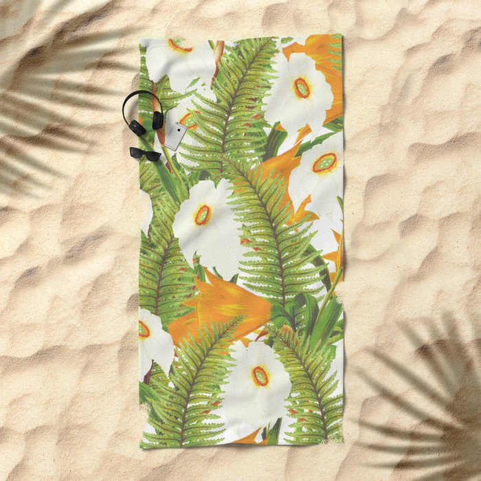 Summer Narcissus Beach Towel