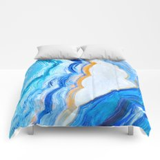 Blue and gold agate Comforters