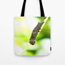 Caterpillar On A Green Plant #decor #society6 Tote Bag